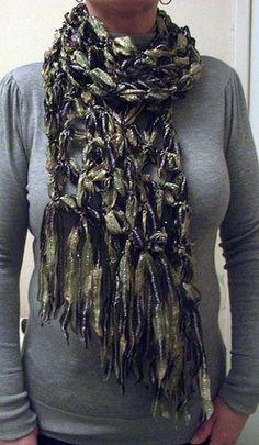 scarf with sari ribbon - Google Search