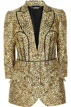 Honeycomb-jacquard jacket by Alexander McQueen