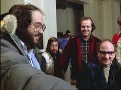 Stanley Kubrick and Jack Nicholson on the set of The Shining(1980)