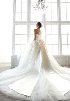 極具美感的純淨花園白紗 : Chwedding 賈永婕‧黃淑琦經典婚紗