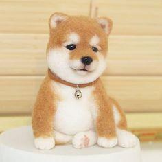 1년동안 품에 있었던 우리 새끼시바~ 보내기전 꽃단장하고 마지막 컷 shiba puppy, needle felted