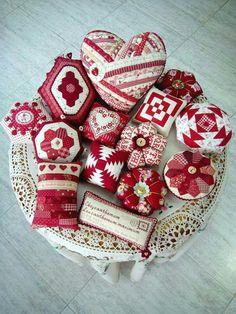Red & White Pincushions