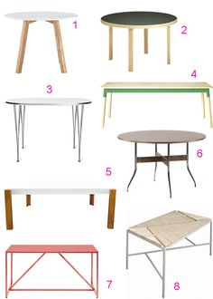 46 modern dining tables