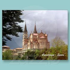 Cathedral Santa Maria La Real de Covadonga, near Cangas de Onis, Asturias, in Spain.