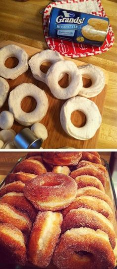 easy to make cinnamon sugar donuts....definitely a MUST try!!! The kids would go crazy! #recipes Recipes
