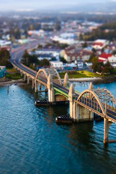 Florence Oregon, 101 Bridge Miniture. © 2012 curtpeters.com
