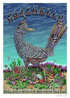 Emek Coachella Festiva Mini-Concert Poster Reprint for 2015 Indo CA Coachella Poster, Coachella Festival, Festival Posters, Concert Posters, Music Posters, Screen Print Poster, Poster Prints, Indio California, California Travel