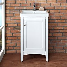 """Shaker Americana Vanity 21 x 17-3/16 x 33.5  (w/ sink shown overall height is probably 36.5 and w/ 1.25"""" counter it would be 34.75h)"""
