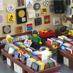 """Here's a record store made out of Legos, bask in its glory."" This has nothing to do with anything; it's just cool."