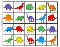 Dinosaur Preschool Printables (Memory game)