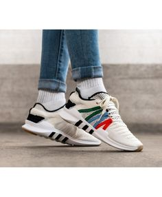 new product 623aa d2246 Adidas Equipment Racing ADV PK Cream White Black Green Red Blue Fashion  Trainers