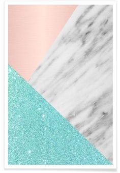 Spring Marble Collage en Affiche premium par cafelab | JUNIQE shop