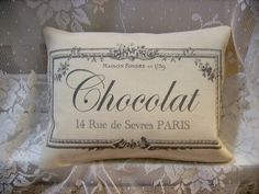 Shabby Vintage Inspired  French Chocolat by kristyschicboutique, $9.99 - i'm sure it's great, but i just repinned this, because i loveddd the movie chocolat haha