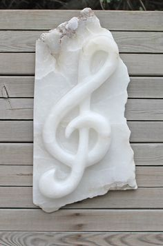 Made of alabaster. Marble Carving, Soap Carving, Treble Clef, Marble Stones, Soapstone, Sculpture, Stone Art, Lamb, Gemstones