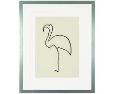 Picassos  Gabe der Abstraktion kommt bei seinen Tiermotiven wunderbar zum Vorschein: eine Linie wird durch seine Hand lebendig. Gerahmter Digitaldruck PICASSO´S FLAMINGO  ist ein zeitloses Accessoire für Ihr Zuhause. Trotz des stolzen Alters des Motives ist es durch seinen Minimalismus heute und immer eine Augenweide!