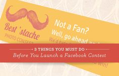 3 Things You Must Do Before You Launch a #Facebook Contest - See more at: http://www.sociallystacked.com/2013/07/planning-a-facebook-contest-take-your-time/#sthash.qwcSBLtz.dpuf