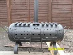 Large Gas Bottle Wood burner BBQ, By Barry Wood @ https://m.facebook.com/LogWoodBurners