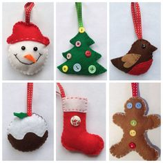 Get into the Christmas spirit and make memories Feel a sense of achievement in making any of these lovely felt decorations for your tree and to hang