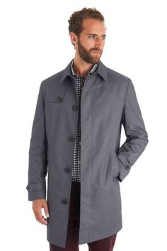 MOSS 1851 TAILORED FIT LIGHT GREY RAINCOATPRODUCT CODE:965255417  WAS£129.00NOW£79.00  This Moss 1851 tailored fit light grey raincoat has two outer pockets. It is single breasted and has buttons to fasten. It is a light alternative for a winter coat and can be worn over a suit.