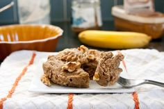 Banana cinnamon protein quickbake. Yum! #glutenfree #vegan (Or I subbed egg for flax and some almond milk.)