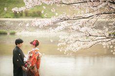 きれいの京都前撮り12 Wedding Photography Poses, Wedding Poses, Wedding Photo Images, Signature Book, Wedding Kimono, Japanese Wedding, Bridal, Portrait, Couple Photos