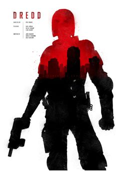 Dredd (2012) ~ Minimal Movie Poster by Joseph Harrold #amusementphile