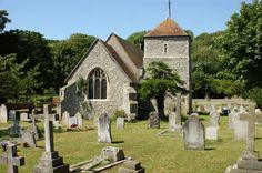 Quintessential English village church scene. This one located in East Dean, East Sussex