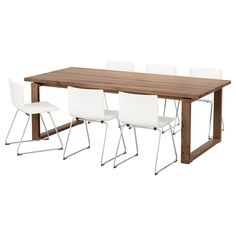 IKEA - MÖRBYLÅNGA / BERNHARD, Table and 6 chairs