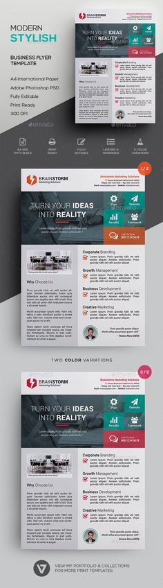 Creative business flyer template psd web stuff pinte business flyer template by verazo stylish modern corporate flyer template a highly versatile corporate business flyer suitable for all business industry flashek Images
