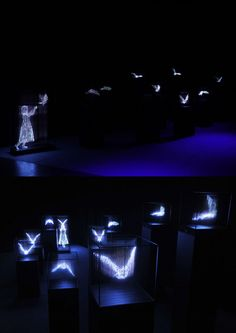 Light Sculptures by Makoto Tojiki