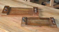 Handmade Solid Reclaimed Wood Tray 4(cm) x 2 Rustic Barn Wood Restaurant & Home #Handmade