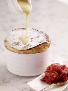 Mini Raspberry Soufflés from Kevin Dundon (Irish Chef/Owner of Dunbrody Inn). Irish Recipes, Chef Recipes, Gourmet Desserts, Dessert Recipes, Kevin Dundon Recipes, Impressive Desserts, Fruit Dessert, Egg Yolks, Cake Flavors