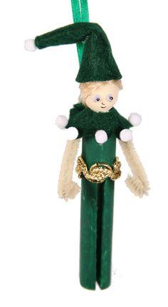 christmas clothespin ornaments | Tin Man Wizard of Oz clothespin ornament craft kit