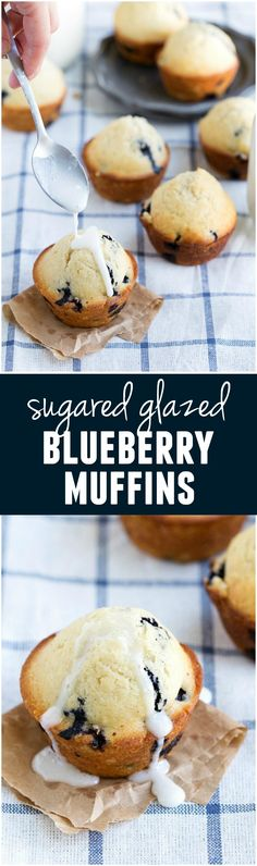 These Blueberry Muffins are quick and easy and the sugared glaze is the perfect finishing touch!