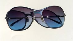 6f14ad35189 Morgenthal Frederics hand made in Japan sunglasses silver and bleu gradient  lenses