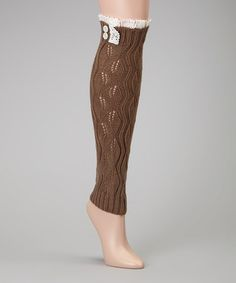 Take a look at this Mocha Leg Warmers by Just Couture on #zulily today!