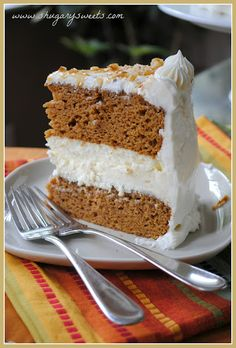 Pumpkin Cheesecake Cake - I'm pretty sure I hear angels singing......