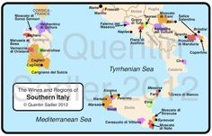 wine map of southern Italy - click for a larger view