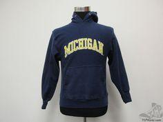 Michigan Wolverines Heavy SEWN Hoodie Hoody Sweatshirt sz S Small University #SteveBarrys #MichiganWolverines #tcpkickz