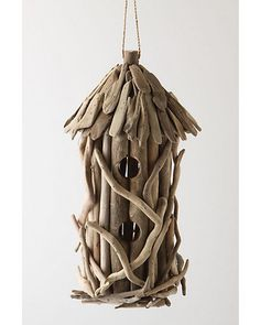 Driftwood Birdhouse - traditional - birdhouses - - by Anthropologie Driftwood Projects, Driftwood Art, Driftwood Seahorse, Driftwood Ideas, Diy Projects, Traditional Birdhouses, Driven By Decor, Bird Cages, Bird Feeder