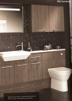 A possible layout without the cupboards at the top - Chocolate Grey Loft Bathroom, Cupboards, Wall Tiles, Double Vanity, Tile Floor, Layout, Flooring, Shower, Chocolate
