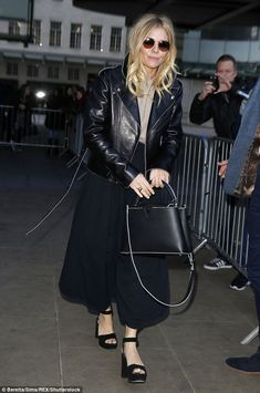 Wow thing: Sienna looked incredible when she was pictured leaving the BBC Radio One studios in London on Friday
