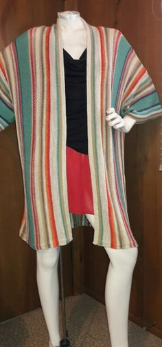 Ralph Lauren Indian Blanket Navajo Linen Striped Sweater Cardigan XL- NWT$150  #LaurenRalphLauren #Cardigan