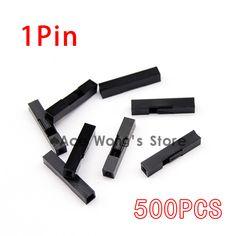 Gratis Verzending! 500 Stks/partij 1 P Dupont Jumper Wire Kappen Vrouw Pin Connector 2.54mm Pitch