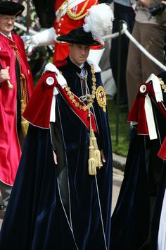 Prince William during the Garter Ceremony procession