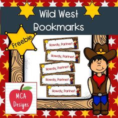 These adorable bookmarks are part of my Wild West Classroom Decor collection. I hope you enjoy this freebie! #teacherspayteachers #tpt #bookmark #reading #backtoschool Reading Resources, Classroom Resources, 1st Grade Activities, Teacher Favorite Things, Teacher Newsletter, First Grade, Wild West, Classroom Decor, Teacher Pay Teachers