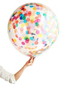 huge confetti balloon at Oh Happy Day party store. So much awesomeness there!
