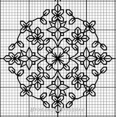 Motifs Blackwork, Motifs Islamiques, Blackwork Cross Stitch, Cross Stitch Geometric, Cross Stitching, Kasuti Embroidery, Cross Stitch Embroidery, Embroidery Patterns, Cross Stitch Designs