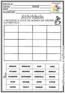 Atividades Escolares: Ordem alfabética Professor, Classroom, Education, Words, Class Activities, Punctuation Activities, Art, Teacher, Class Room