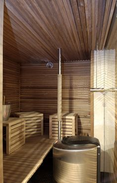 #Tikkurila #Sauna #Wax is available ready mixed in white, grey, black and clear or can be tinted to any translucent #colour. It is designed for use on #benches, #walls and #ceilings in #sauna and #steam rooms